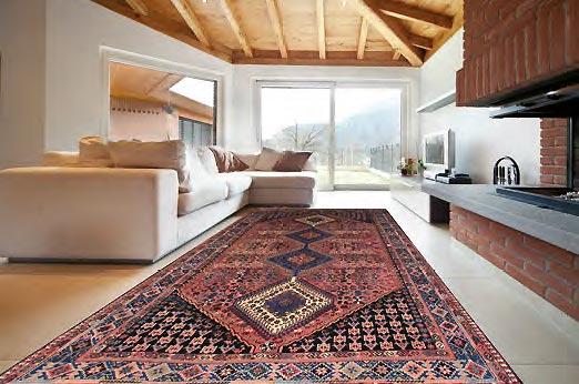 ambientazione tappeto geometrico milano